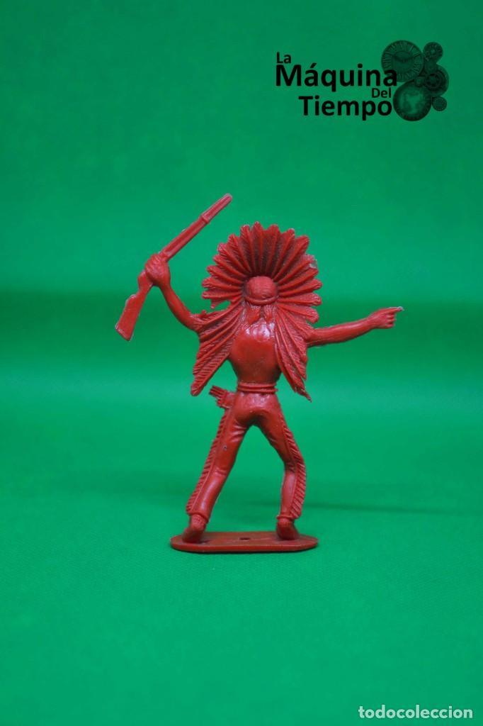 Figuras de Goma y PVC: Figura de indio de Comansi 2ª época. Años 70. Far West (Oeste). Indios y Cowboys (vaqueros) - Foto 3 - 238490205