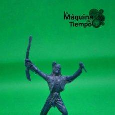 Figuras de Goma y PVC: FIGURA DE INDIO DE COMANSI 2ª ÉPOCA. AÑOS 70. FAR WEST (OESTE). INDIOS Y COWBOYS (VAQUEROS). Lote 238497485