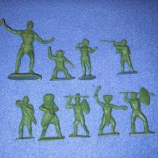 Figuras de Goma y PVC: CREACIONES REYMONT - LA ILUSION PIPERO : SERIE TARZAN - FIGURA GUERRERO ZULU TARZAN PLASTICO AÑOS 60. Lote 264155280