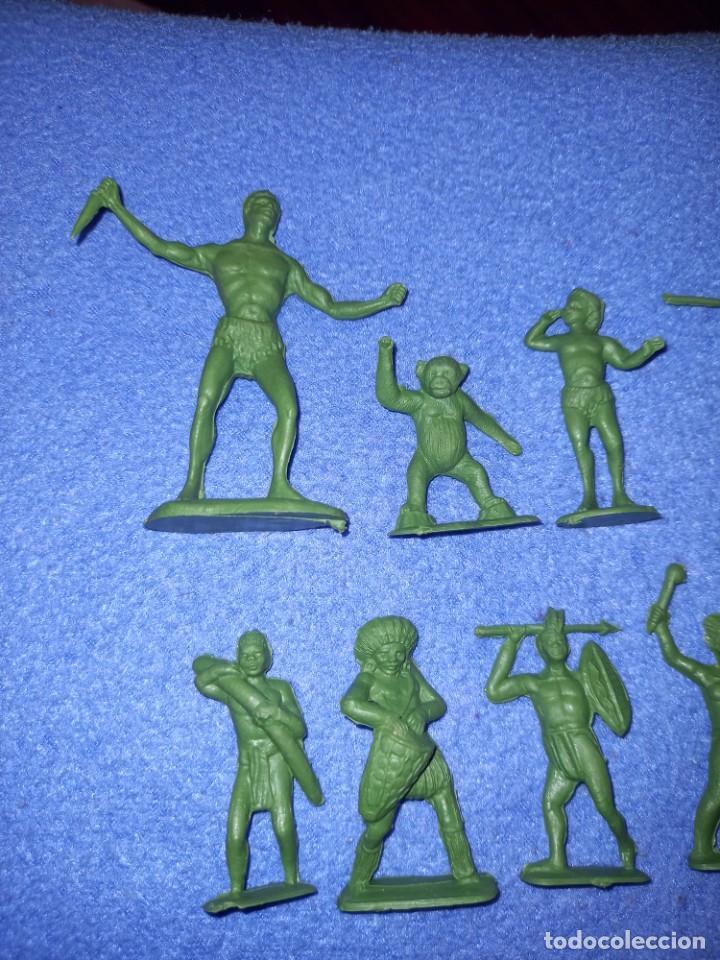 Figuras de Goma y PVC: CREACIONES REYMONT - LA ILUSION PIPERO : SERIE TARZAN - FIGURA GUERRERO ZULU TARZAN PLASTICO AÑOS 60 - Foto 2 - 238501055