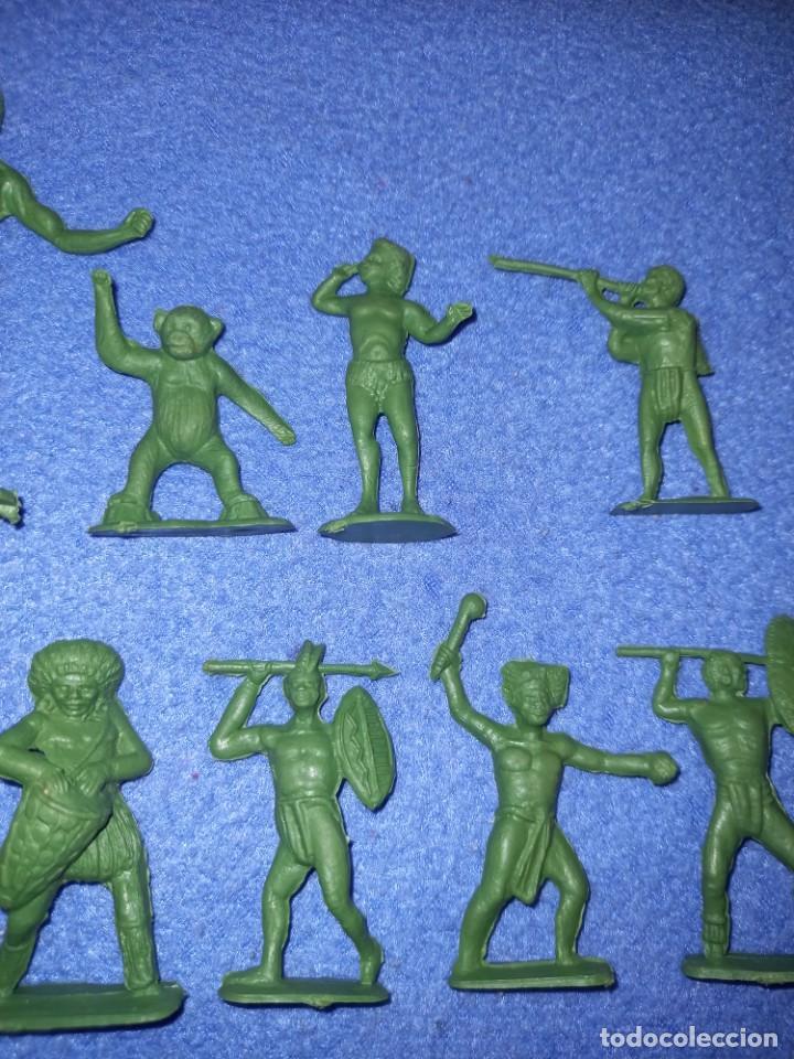 Figuras de Goma y PVC: CREACIONES REYMONT - LA ILUSION PIPERO : SERIE TARZAN - FIGURA GUERRERO ZULU TARZAN PLASTICO AÑOS 60 - Foto 3 - 238501055