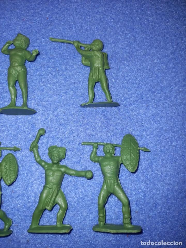Figuras de Goma y PVC: CREACIONES REYMONT - LA ILUSION PIPERO : SERIE TARZAN - FIGURA GUERRERO ZULU TARZAN PLASTICO AÑOS 60 - Foto 4 - 238501055