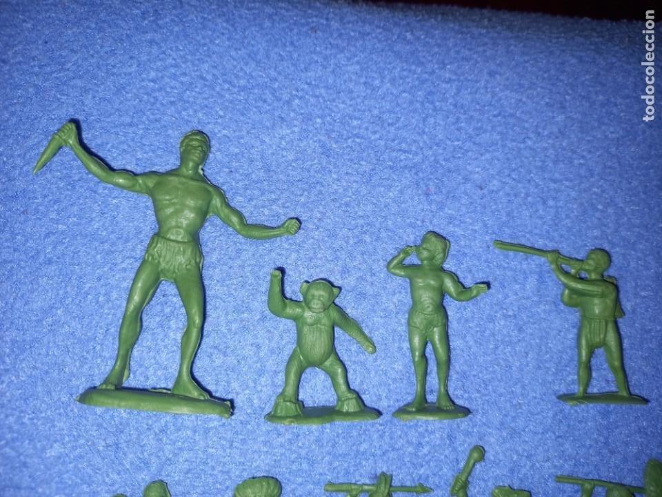 Figuras de Goma y PVC: CREACIONES REYMONT - LA ILUSION PIPERO : SERIE TARZAN - FIGURA GUERRERO ZULU TARZAN PLASTICO AÑOS 60 - Foto 5 - 238501055