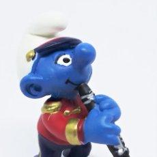 Figuras de Goma y PVC: FIGURA DE PITUFO CON CLARINETE BANDA DE MÚSICA DE LOS PITUFOS (THE SMURFS) REALIZADA POR SCHLEICH. Lote 238563985