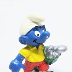 Figuras de Goma y PVC: FIGURA DE PITUFO GOLFISTA DE LOS PITUFOS (THE SMURFS) REALIZADA POR SCHLEICH. Lote 238620730