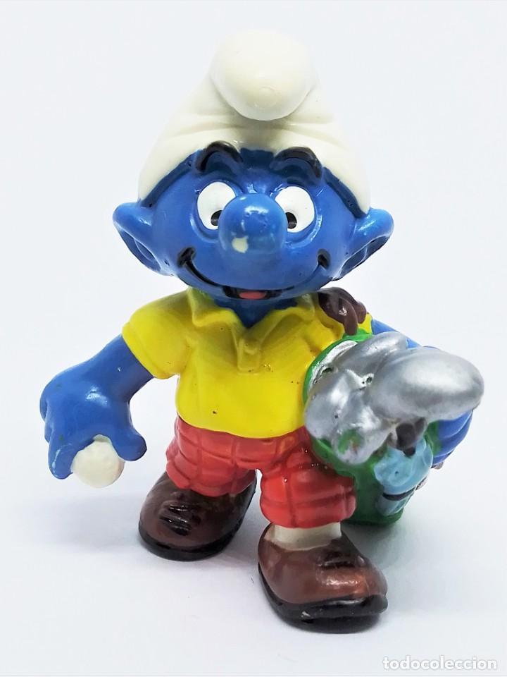 Figuras de Goma y PVC: Figura de Pitufo Golfista de Los Pitufos (The Smurfs) realizada por Schleich - Foto 2 - 238620730