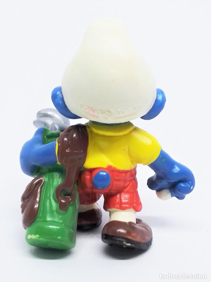 Figuras de Goma y PVC: Figura de Pitufo Golfista de Los Pitufos (The Smurfs) realizada por Schleich - Foto 3 - 238620730