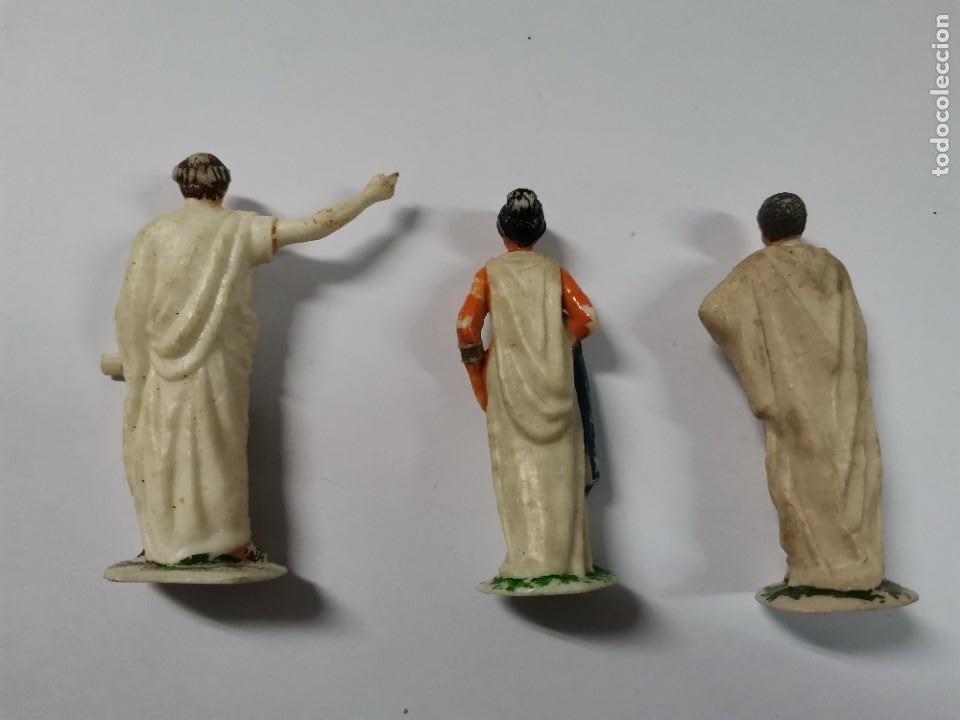 Figuras de Goma y PVC: LOTE DE 3 FIGURAS ROMANOS. AÑOS 50. 43. - Foto 2 - 238626135