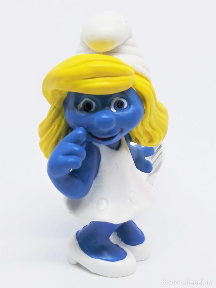 Figuras de Goma y PVC: Figura de Pitufina de la Película de Los Pitufos (The Smurfs) realizada por Schleich - Foto 2 - 238715080