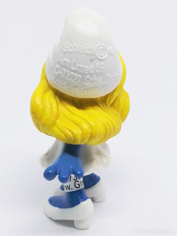 Figuras de Goma y PVC: Figura de Pitufina de la Película de Los Pitufos (The Smurfs) realizada por Schleich - Foto 3 - 238715080