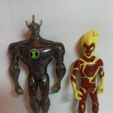 Figuras de Goma y PVC: 2 FIGURA DE PLASTICO DE BEN TEN CARTOON NETWORK. Lote 238863175
