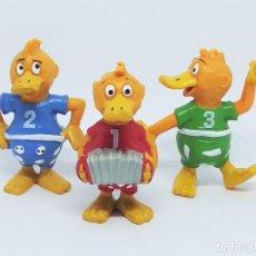 Figuras de Goma y PVC: FIGURAS DE KNUDELL, KNAX AND KNIBBEL DEL PROGRAMA DE TV ALEMÁN DIE DROLLINGE REALIZADAS POR SCHLEICH. Lote 211652068
