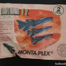 Figuras de Goma y PVC: SOBRE SORPRESA MONTAPLEX Nº 617, LIGHTNING F-2. Lote 294989573