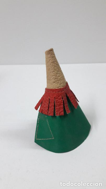 Figuras de Goma y PVC: TIPI INDIO PEQUEÑO . REALIZADO POR JECSAN . SERIE PEQUEÑA ALTURA 8,5 CM . ORIGINAL AÑOS 50 - Foto 4 - 239398210