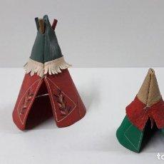 Figuras de Goma y PVC: TIPI INDIO PEQUEÑO . REALIZADO POR JECSAN . SERIE PEQUEÑA ALTURA 8,5 CM . ORIGINAL AÑOS 50. Lote 239398210