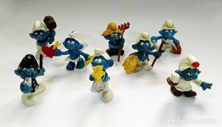 Figuras de Goma y PVC: LOTE 55 PITUFOS THE SMURFS SCHLEICH PEYO DE 1965 A 2009 - Foto 2 - 239474575