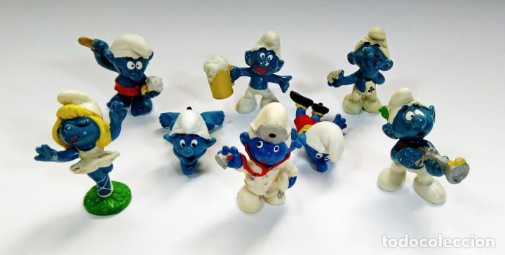 Figuras de Goma y PVC: LOTE 55 PITUFOS THE SMURFS SCHLEICH PEYO DE 1965 A 2009 - Foto 3 - 239474575
