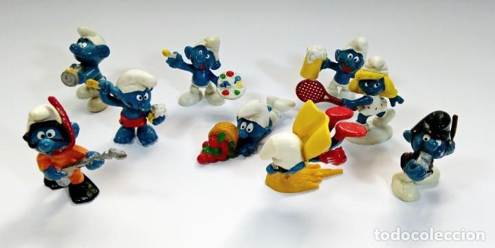 Figuras de Goma y PVC: LOTE 55 PITUFOS THE SMURFS SCHLEICH PEYO DE 1965 A 2009 - Foto 6 - 239474575