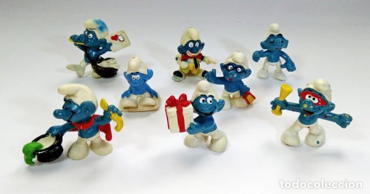 Figuras de Goma y PVC: LOTE 55 PITUFOS THE SMURFS SCHLEICH PEYO DE 1965 A 2009 - Foto 7 - 239474575