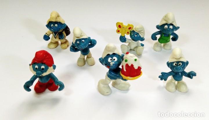 Figuras de Goma y PVC: LOTE 55 PITUFOS THE SMURFS SCHLEICH PEYO DE 1965 A 2009 - Foto 8 - 239474575