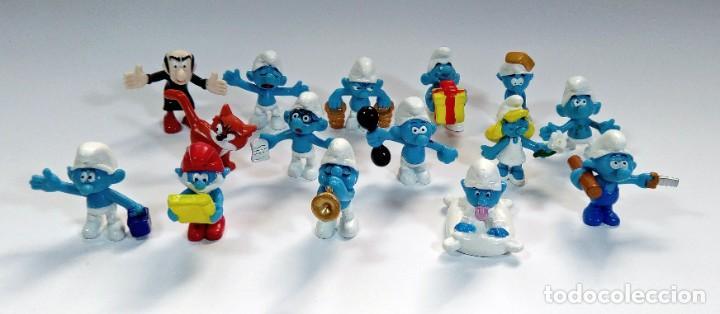Figuras de Goma y PVC: LOTE 55 PITUFOS THE SMURFS SCHLEICH PEYO DE 1965 A 2009 - Foto 9 - 239474575