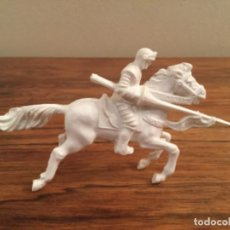 Figurines en Caoutchouc et PVC: CABALLO CABALLERO BLANCO AJAX REGALO JABON PUBLICIDAD. Lote 239665195