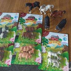 Figuras de Borracha e PVC: ANIMALES MI GRANJA DE NOVO LINO PINTADO A MANO.NUEVO SIN USO EN SU BLISTER ORIGINAL AÑOS 70 BLISTER. Lote 239791650