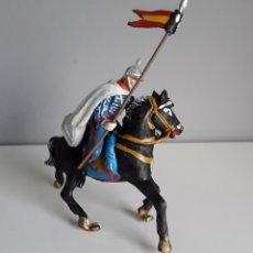 Figuras de Goma y PVC: LANCERO DE LA ESCOLTA DEL GENERALISIMO, JINETE CON LANZA, AÑOS 50 SERIE DE TEIXIDO, FIGURA EN GOMA.. Lote 240031450