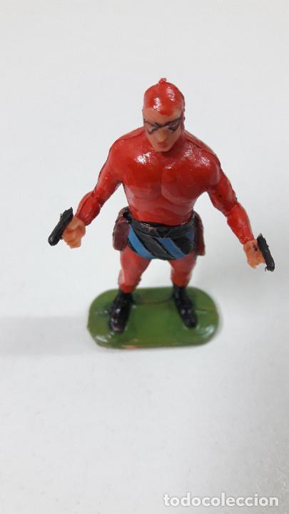 Figuras de Goma y PVC: EL HOMBRE ENMASCARADO . REALIZADO POR ESTEREOPLAST . ORIGINAL AÑOS 60 - Foto 2 - 240252025