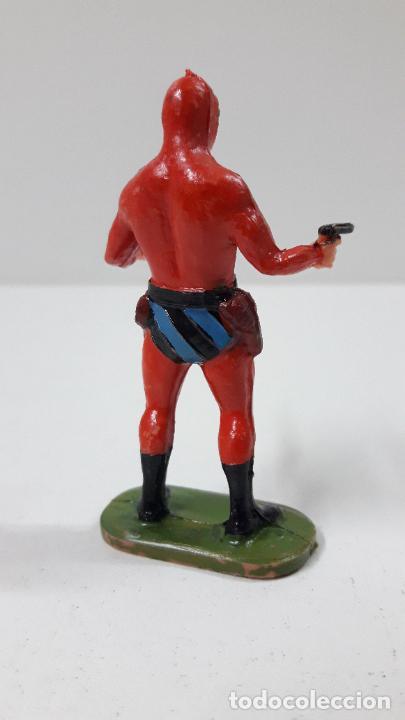Figuras de Goma y PVC: EL HOMBRE ENMASCARADO . REALIZADO POR ESTEREOPLAST . ORIGINAL AÑOS 60 - Foto 6 - 240252025