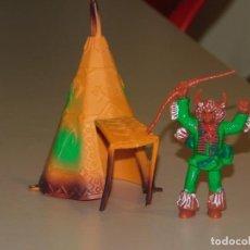 Figuras de Goma y PVC: COMANSI III TEMPORADA *TIPI CON CHAMÁN INDIO*. 2 FOTOS. Lote 240332540