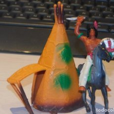 Figuras de Goma y PVC: COMANSI III TEMPORADA *TIPI CON INDIO A CABALLO CON ESCUDO Y CUCHILLO*. Lote 240337515