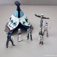 Figuras de Borracha e PVC: COMANSI - FIGURAS OSTE, VAQUEROS, INDIOS, TIPI. Lote 240355340