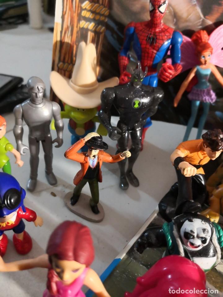 Figuras de Goma y PVC: Lote de 50 figuras de goma serie dibujos héroes, Disney y otras figuras de colección - Foto 3 - 240409320