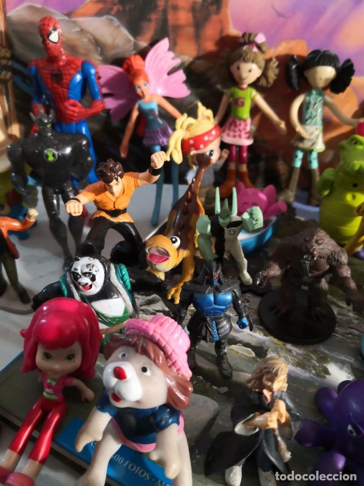 Figuras de Goma y PVC: Lote de 50 figuras de goma serie dibujos héroes, Disney y otras figuras de colección - Foto 4 - 240409320