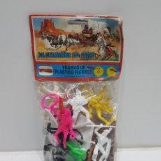 Figuras de Borracha e PVC: ANTIGUA BOLSA LA CARAVANA DEL OESTE NOVOLINEA. Lote 240410605