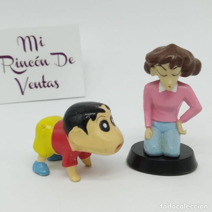 LOTE DE 2 FIGURAS DE SHIN CHAN DE KINDER - FERRERO (Juguetes - Figuras de Gomas y Pvc - Kinder)