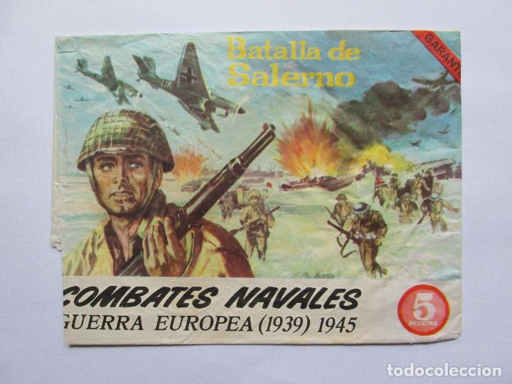 SOBRE VACIO MONTAPLEX - BATALLA DE SALERNO - COMBATES NAVALES - GUERRA EUROPEA (Juguetes - Figuras de Goma y Pvc - Montaplex)