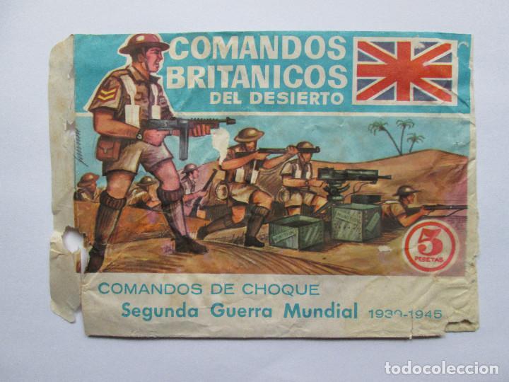 SOBRE VACIO MONTAPLEX - COMANDOS BRITANICOS DEL DESIERTO - SEGUNDA GUERRA MUNDIAL (Juguetes - Figuras de Goma y Pvc - Montaplex)