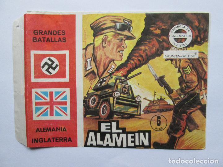 SOBRE VACIO MONTAPLEX - EL ALAMEIN - GRANDES BATALLAS - ALEMANIA INGLATERRA (Juguetes - Figuras de Goma y Pvc - Montaplex)