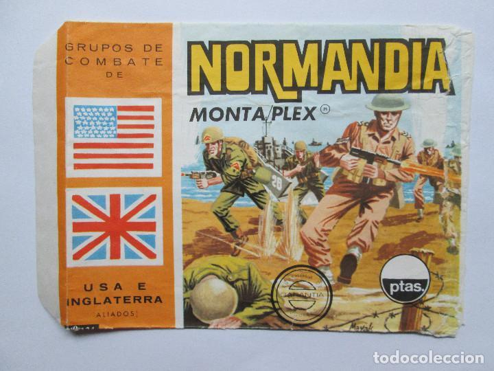 SOBRE VACIO MONTAPLEX - NORMANDIA - GRUPOS DE COMBATE - USA E INGLATERRA (Juguetes - Figuras de Goma y Pvc - Montaplex)