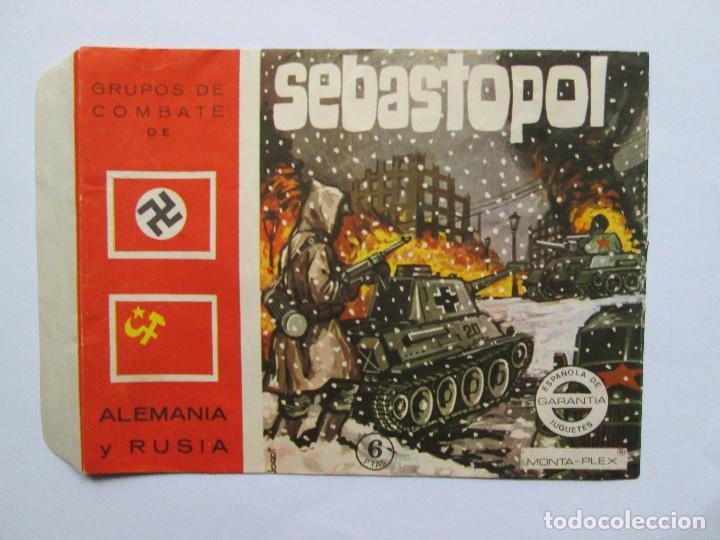 SOBRE VACIO MONTAPLEX - SEBASTOPOL - GRUPOS DE COMBATE - ALEMANIA Y URSS (Juguetes - Figuras de Goma y Pvc - Montaplex)