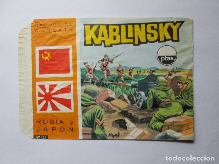 SOBRE VACIO MONTAPLEX - KABLINSKY - GRUPOS DE COMBATE DE URSS Y JAPON (Juguetes - Figuras de Goma y Pvc - Montaplex)