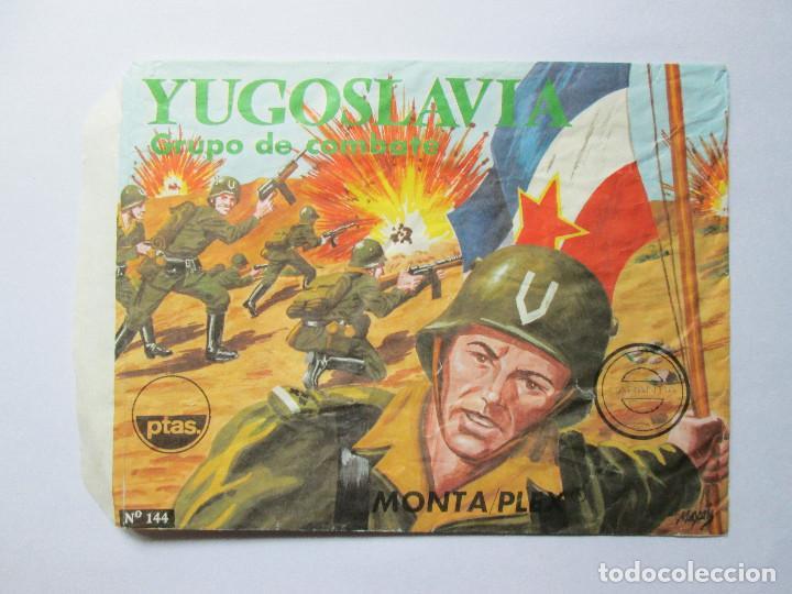 SOBRE VACIO MONTAPLEX - YUGOSLAVIA - GRUPO DE COMBATE Nº 144 (Juguetes - Figuras de Goma y Pvc - Montaplex)
