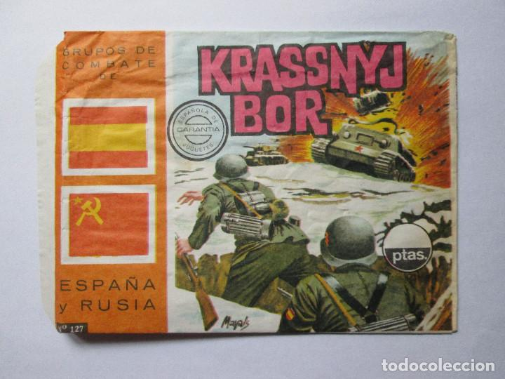 SOBRE VACIO MONTAPLEX - KRASSNYJ BOR - GRUPOS DE COMBATE DE ESPAÑA URSS (Juguetes - Figuras de Goma y Pvc - Montaplex)