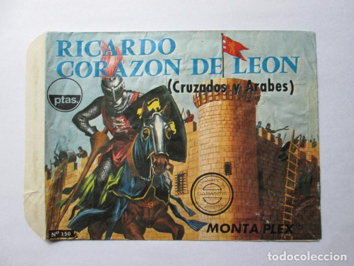 SOBRE VACIO MONTAPLEX - RICARDO CORAZON DE LEON (CRUZADOS Y ARABES) Nº 150 (Juguetes - Figuras de Goma y Pvc - Montaplex)