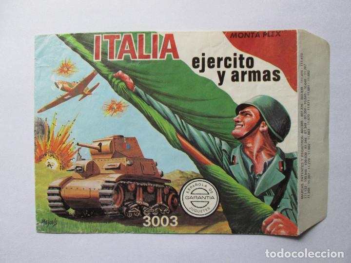 SOBRE VACIO MONTAPLEX - ITALIA - EJERCITOS Y ARMAS Nº3003 (Juguetes - Figuras de Goma y Pvc - Montaplex)
