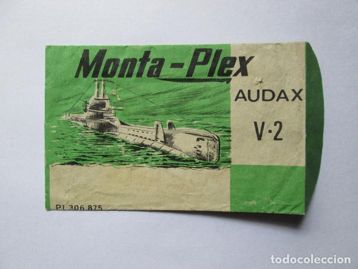 SOBRE VACIO MONTAPLEX - AUDAX V-2 (Juguetes - Figuras de Goma y Pvc - Montaplex)