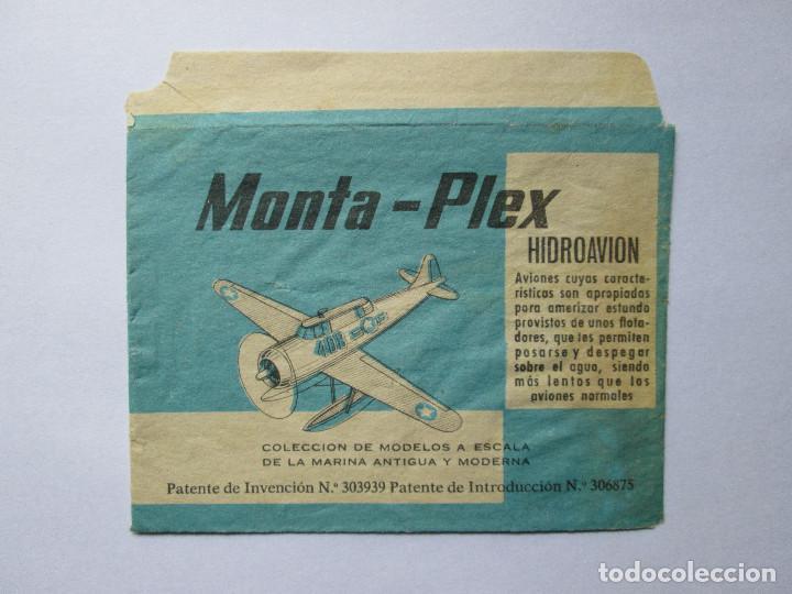 SOBRE VACIO MONTAPLEX - HIDROAVION (Juguetes - Figuras de Goma y Pvc - Montaplex)