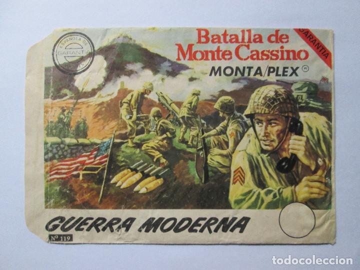 SOBRE VACIO MONTAPLEX - BATALLA DE MONTE CASSINO - GUERRA MODERNA (Juguetes - Figuras de Goma y Pvc - Montaplex)